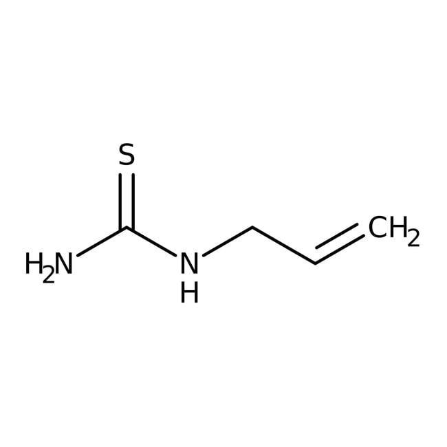 Allylthiourea, 98%, ACROS Organics™ 100g; Glass bottle Allylthiourea, 98%, ACROS Organics™