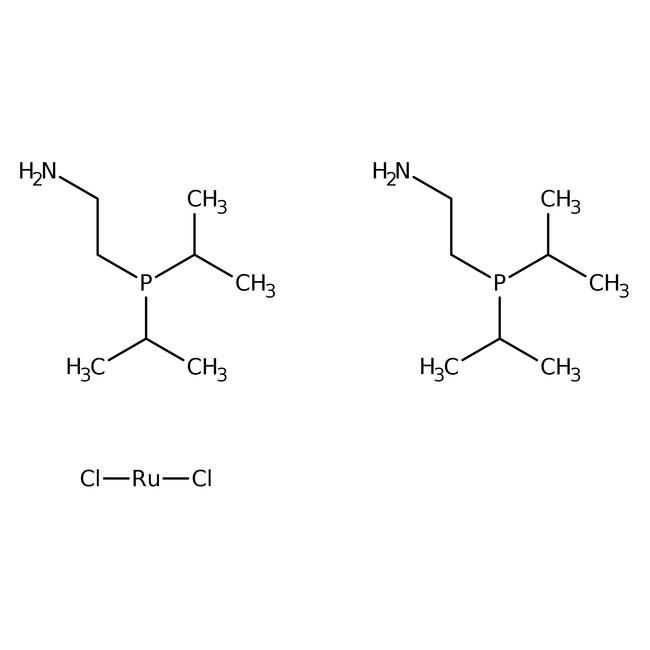 Dichlorobis(2-(diisopropylphosphino)ethylamine)ruthenium(II), 97%, ACROS Organics