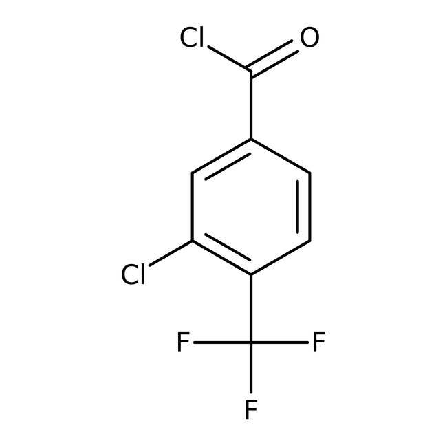 3-Chloro-4-(trifluoromethyl)benzoyl chloride, 97%, Alfa Aesar™ 5g 3-Chloro-4-(trifluoromethyl)benzoyl chloride, 97%, Alfa Aesar™