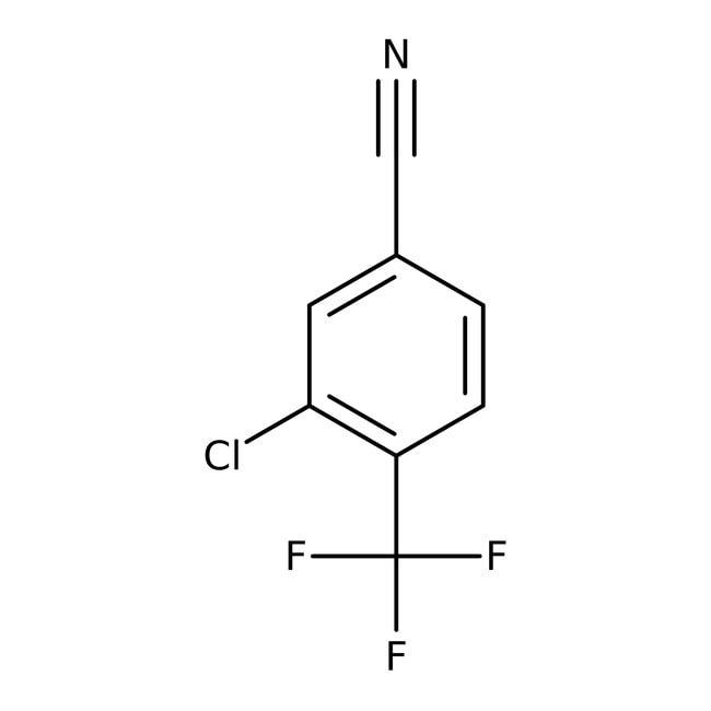 Alfa Aesar™3-Chlor-4-(trifluormethyl)benzonitril, 97% 1g Alfa Aesar™3-Chlor-4-(trifluormethyl)benzonitril, 97%