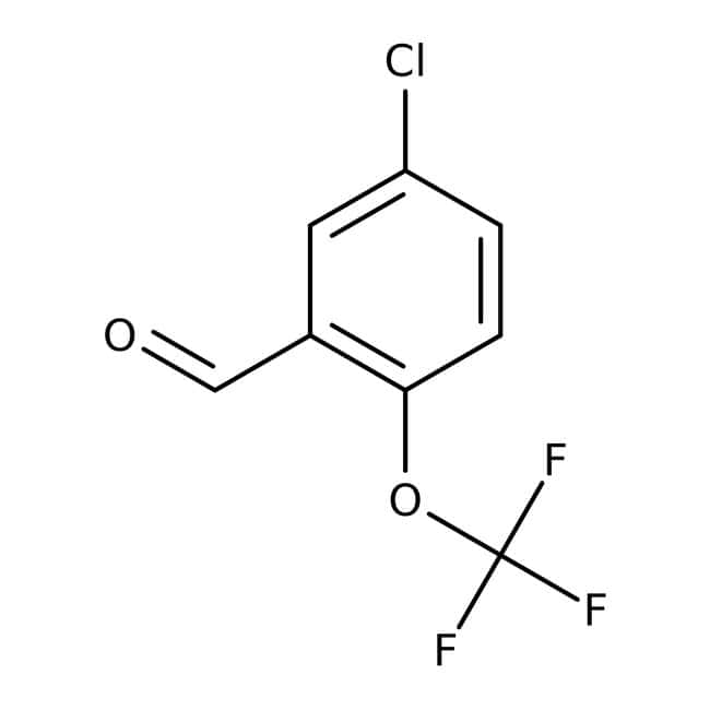 Alfa Aesar™5-chloro-2-(trifluorométhoxy)benzaldéhyde, 97% 5g Alfa Aesar™5-chloro-2-(trifluorométhoxy)benzaldéhyde, 97%