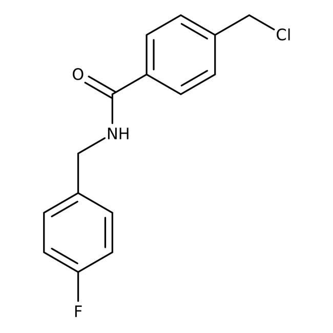 Alfa Aesar™4-Chloromethyl-N-(4-fluorobenzyl)benzamide, 97% 250mg prodotti trovati