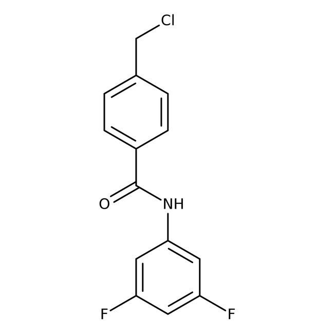 Alfa Aesar™4-Chloromethyl-N-(3,5-difluorophenyl)benzamide, 97%: Benzyl halides Benzene and substituted derivatives