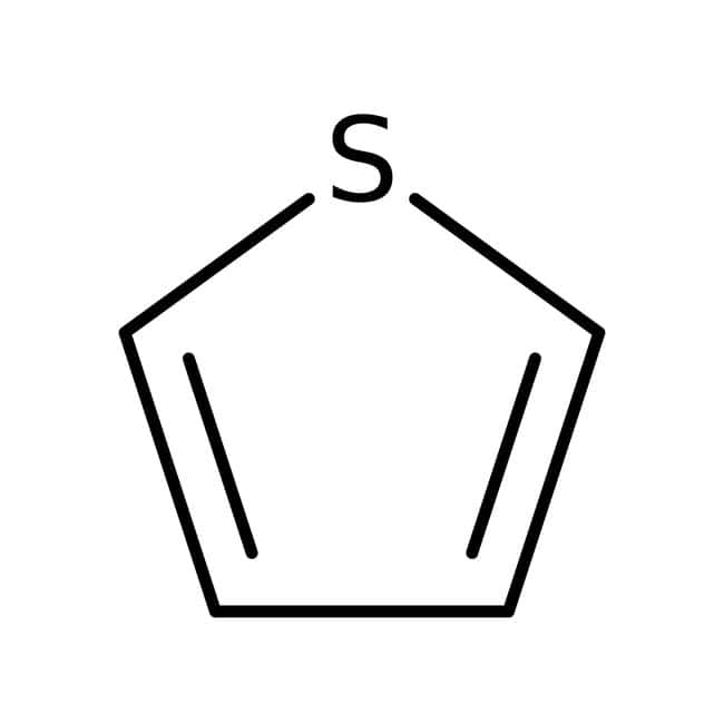 Thiophene, 99.5%, extra pure, benzene free, ACROS Organics™ 100mL; Glass bottle Thiophene, 99.5%, extra pure, benzene free, ACROS Organics™