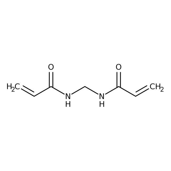 Alfa Aesar™N,N'-méthylène-bisacrylamide, 99+% 25g Alfa Aesar™N,N'-méthylène-bisacrylamide, 99+%
