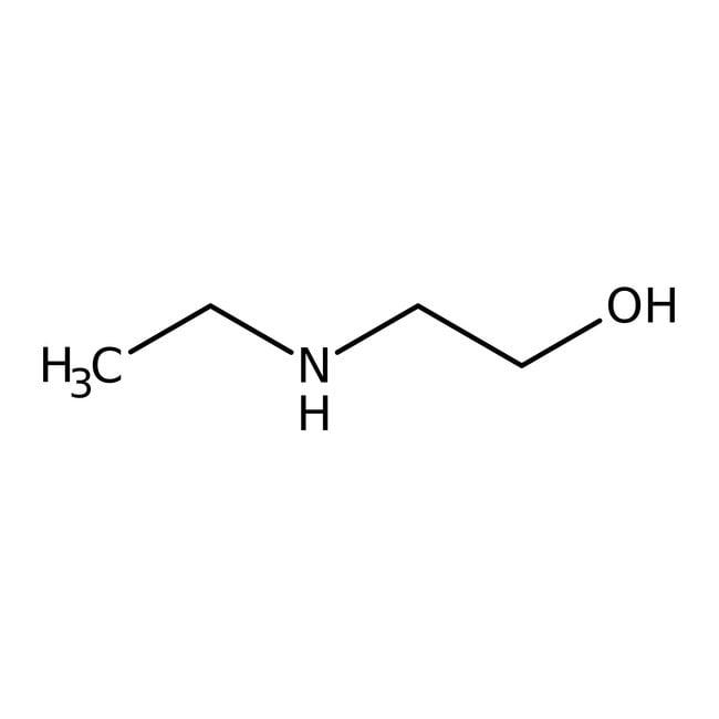 2-(Ethylamino)ethanol, 98%, ACROS Organics™ 250g; Glass bottle 2-(Ethylamino)ethanol, 98%, ACROS Organics™