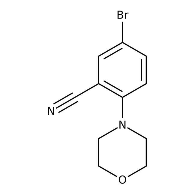 Alfa Aesar™5-Brom-2-(4-morpholinyl)-benzonitril, 98% 1g Alfa Aesar™5-Brom-2-(4-morpholinyl)-benzonitril, 98%