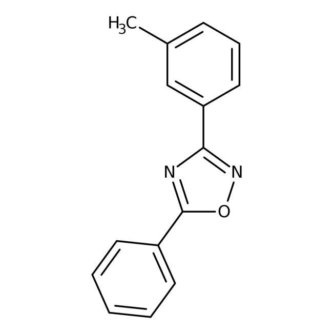 Alfa Aesar™3-(3-Methylphenyl)-5-phenyl-1,2,4-oxadiazole, 97% 5g Alfa Aesar™3-(3-Methylphenyl)-5-phenyl-1,2,4-oxadiazole, 97%
