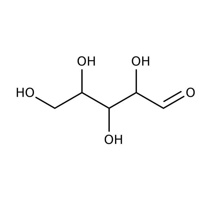 D(-)-Lyxose, 99+%, mixture of anomers, ACROS Organics™ 25g; Glass bottle D(-)-Lyxose, 99+%, mixture of anomers, ACROS Organics™