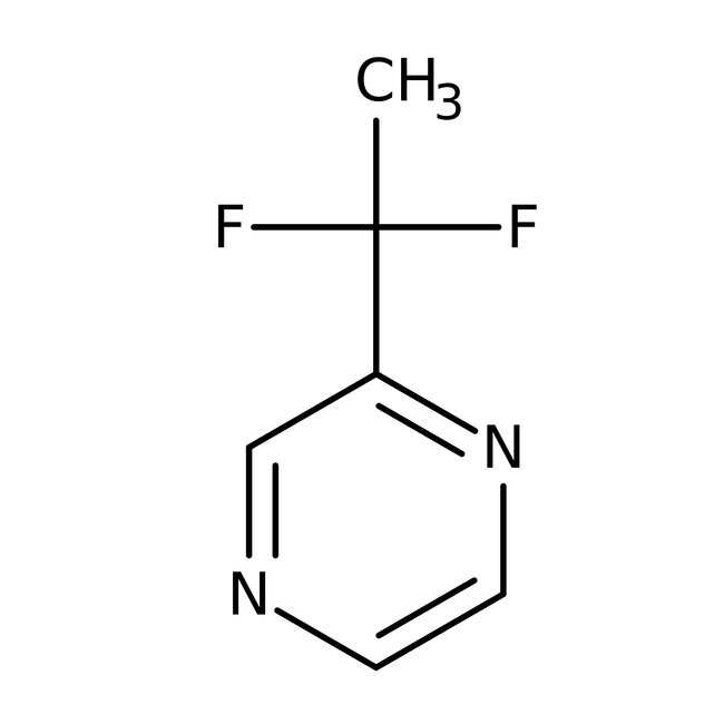 2-(1,1-Difluoroethyl)pyrazine, 97%, ACROS Organics™