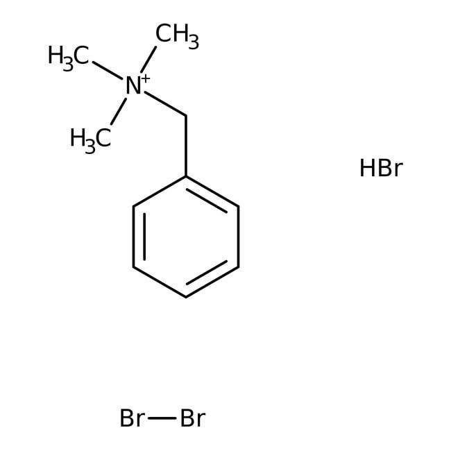 Benzyltrimethylammonium tribromide, 97%, ACROS Organics™ 10g; Glass bottle Benzyltrimethylammonium tribromide, 97%, ACROS Organics™