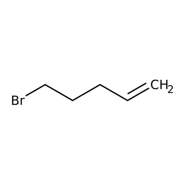 5-Bromo-1-pentene, 95%, ACROS Organics™ 50g; Glass bottle 5-Bromo-1-pentene, 95%, ACROS Organics™