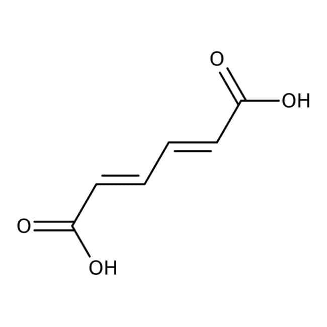 cis,cis-Muconic acid, 98%, ACROS Organics™ 2.5g; Glass bottle cis,cis-Muconic acid, 98%, ACROS Organics™