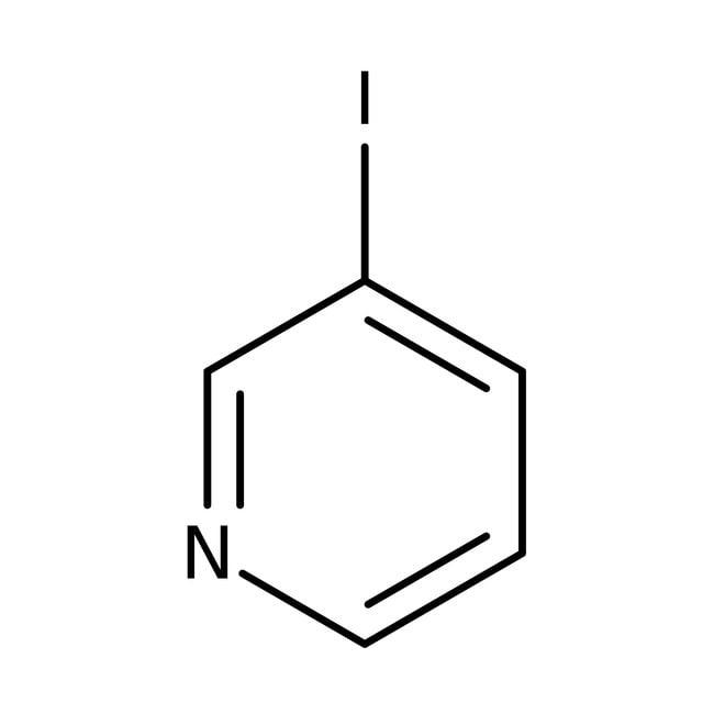 3-Iodopyridine, 99%, ACROS Organics™ 10g; Glass bottle 3-Iodopyridine, 99%, ACROS Organics™