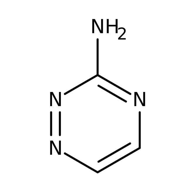 3-Amino-1,2,4-triazine, 97%, ACROS Organics™ 10g; Glass bottle 3-Amino-1,2,4-triazine, 97%, ACROS Organics™