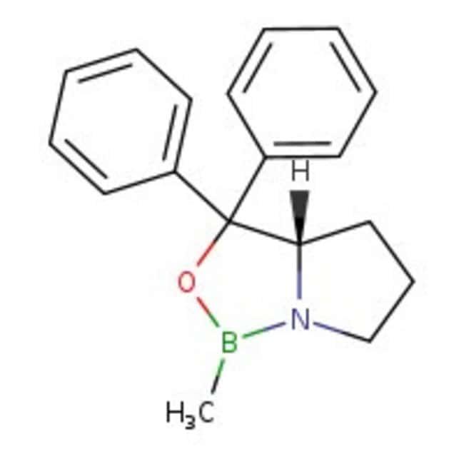 (S)-(-)-2-Methyl-CBS-oxazaborolidine, 1M solution in toluene, ACROS Organics™ 5mL; Glass bottle (S)-(-)-2-Methyl-CBS-oxazaborolidine, 1M solution in toluene, ACROS Organics™
