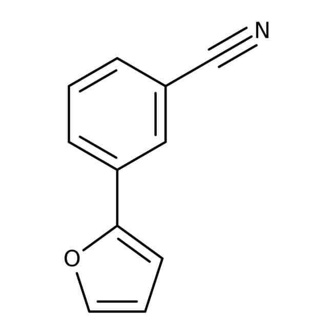 3-(2-Furyl)benzonitrile, ≥97%, Maybridge™ Amber Glass Bottle; 250mg 3-(2-Furyl)benzonitrile, ≥97%, Maybridge™
