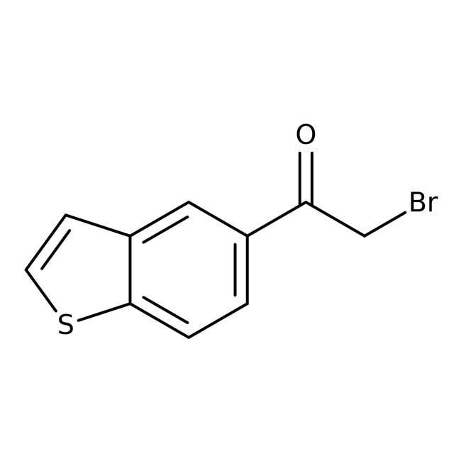 1-(1-Benzothiophen-5-yl)-2-bromo-1-ethanone, 97%, Maybridge™ Amber Glass Bottle; 5g 1-(1-Benzothiophen-5-yl)-2-bromo-1-ethanone, 97%, Maybridge™