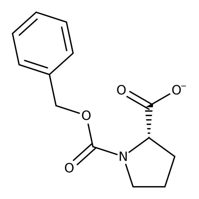 N-Carbobenzyloxy-L-proline, 99%, ACROS Organics™ 10g; Glass bottle N-Carbobenzyloxy-L-proline, 99%, ACROS Organics™