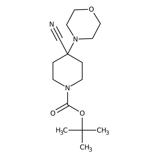 Alfa Aesar™1-Boc-4-cyano-4-(4-morpholinyl)piperidine, 97% 1g Alfa Aesar™1-Boc-4-cyano-4-(4-morpholinyl)piperidine, 97%