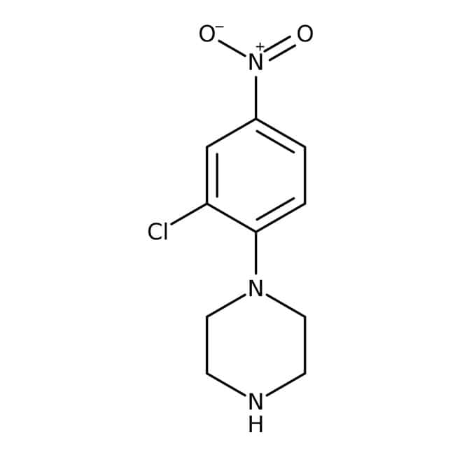 Alfa Aesar™1-(2-Chloro-4-nitrophenyl)piperazine, 97% 250mg Alfa Aesar™1-(2-Chloro-4-nitrophenyl)piperazine, 97%