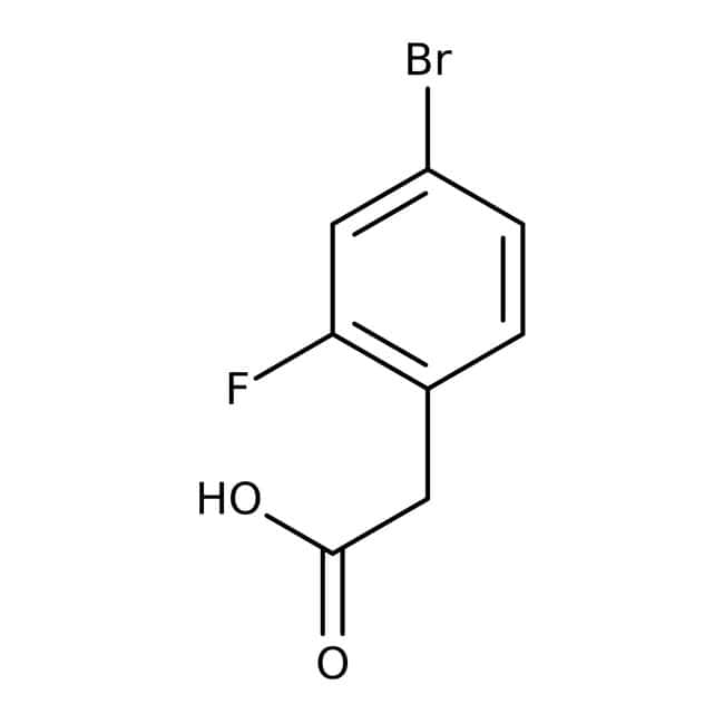 Alfa Aesar™4-Bromo-2-fluorophenylacetic acid, 98%