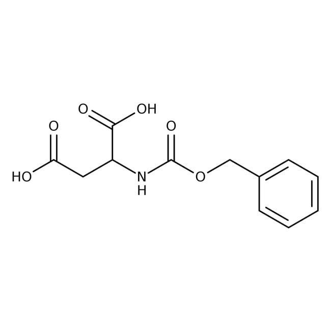 N-Carbobenzyloxy-L-aspartic acid, 98%, ACROS Organics™ 25g; Glass bottle N-Carbobenzyloxy-L-aspartic acid, 98%, ACROS Organics™