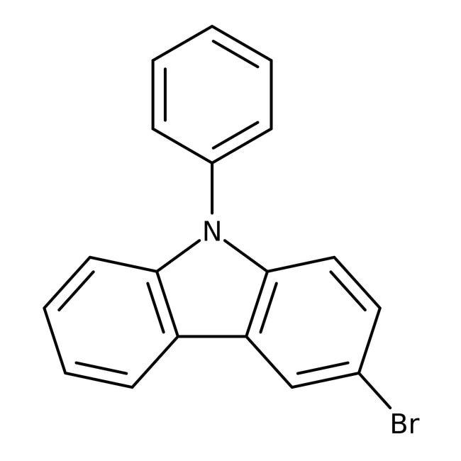 Alfa Aesar™3-Bromo-9-phenylcarbazole, 98% 100g Alfa Aesar™3-Bromo-9-phenylcarbazole, 98%