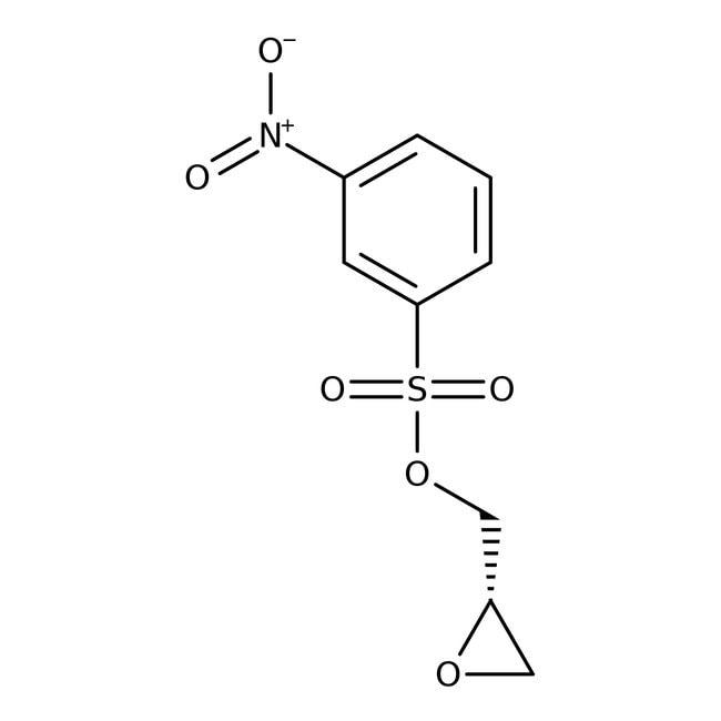 (S)-(+)-Glycidyl nosylate, 98%, ACROS Organics™ 50g; Glass bottle (S)-(+)-Glycidyl nosylate, 98%, ACROS Organics™