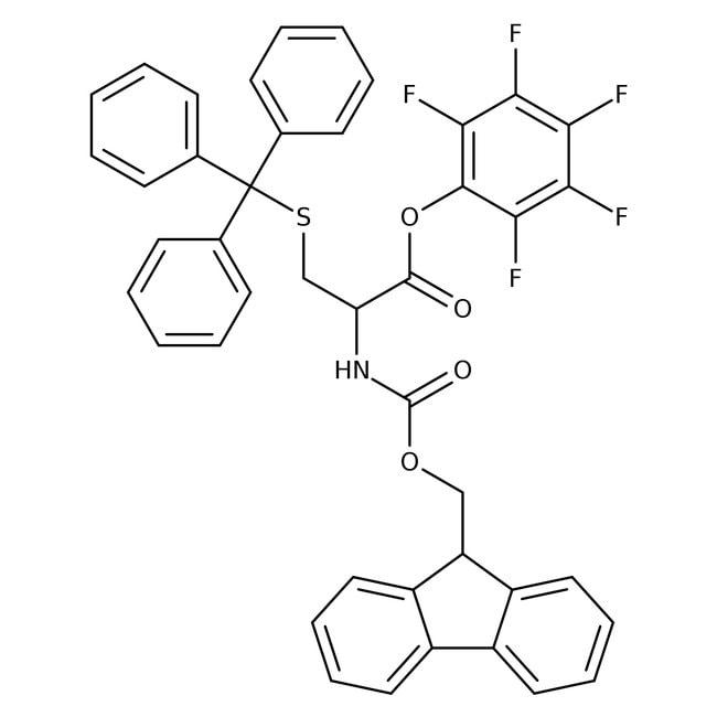 Alfa Aesar™N-Fmoc-S-trityl-L-cysteine pentafluorophenyl ester, 98% 250mg Alfa Aesar™N-Fmoc-S-trityl-L-cysteine pentafluorophenyl ester, 98%
