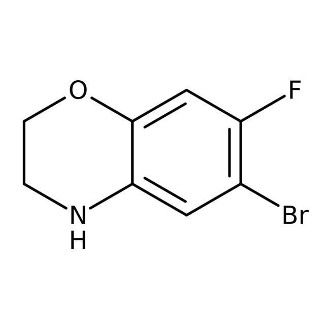 Alfa Aesar™6-Bromo-7-fluoro-3,4-dihydro-2H-1,4-benzoxazine, 96% 250mg Alfa Aesar™6-Bromo-7-fluoro-3,4-dihydro-2H-1,4-benzoxazine, 96%