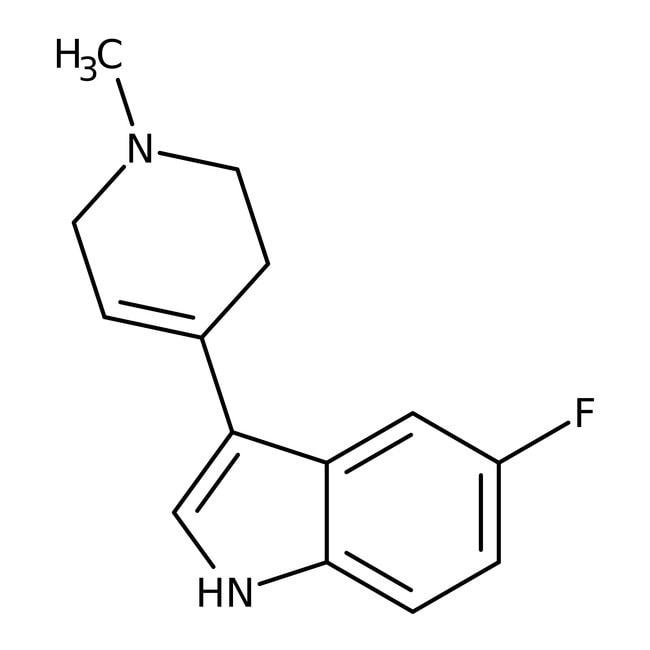 Alfa Aesar™5-Fluoro-3-(1-methyl-1,2,3,6-tetrahydro-4-pyridyl)indole, 97% 250mg Alfa Aesar™5-Fluoro-3-(1-methyl-1,2,3,6-tetrahydro-4-pyridyl)indole, 97%
