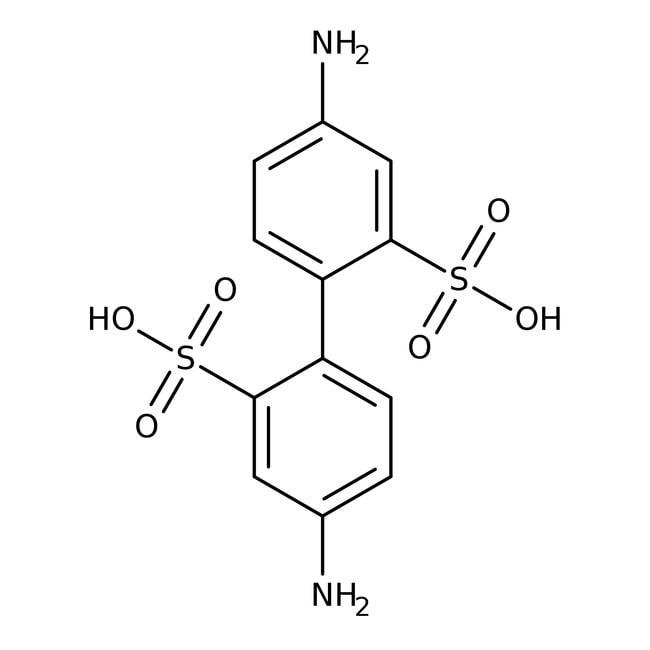 Alfa Aesar™4,4'-Diaminobiphenyl-2,2'-disulfonsäurehydrat, enth. bis zu 30% Wasser 25g Alfa Aesar™4,4'-Diaminobiphenyl-2,2'-disulfonsäurehydrat, enth. bis zu 30% Wasser
