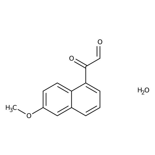Alfa Aesar™6-Methoxy-2-naphthylglyoxal hydrate, 98%, dry wt. basis 1g Alfa Aesar™6-Methoxy-2-naphthylglyoxal hydrate, 98%, dry wt. basis