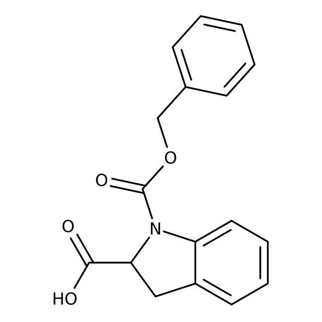 1-[(Benzyloxy)carbonyl]-2-indolinecarboxylic acid, ≥90%, Maybridge