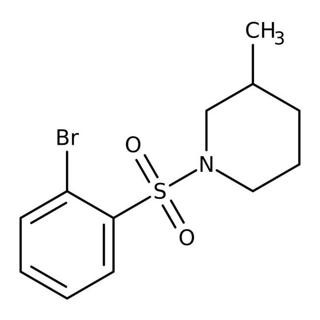 Alfa Aesar™1-(2-Bromophenylsulfonyl)-3-methylpiperidine, 97% 250mg Alfa Aesar™1-(2-Bromophenylsulfonyl)-3-methylpiperidine, 97%