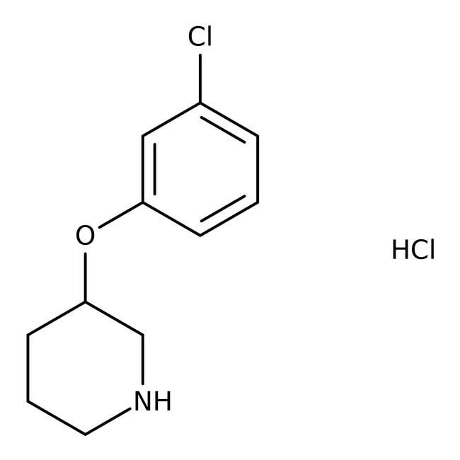 Alfa Aesar™3-(3-Chlorophenoxy)piperidine hydrochloride 1g Alfa Aesar™3-(3-Chlorophenoxy)piperidine hydrochloride