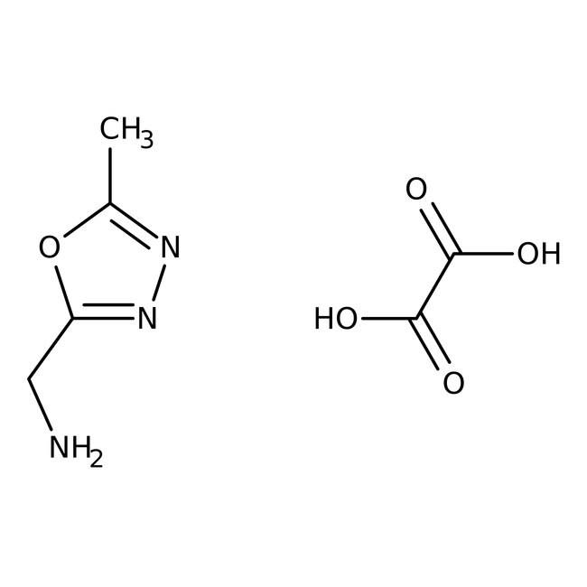 Alfa Aesar™5-Methyl-1,3,4-oxadiazole-2-methylamine oxalate, 99% 250mg Alfa Aesar™5-Methyl-1,3,4-oxadiazole-2-methylamine oxalate, 99%