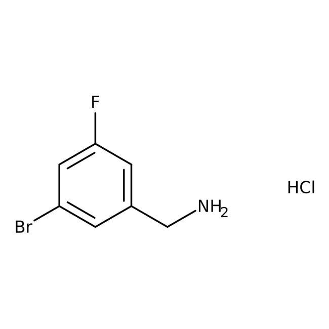 Alfa Aesar™3-Bromo-5-fluorobenzylamine hydrochloride, 96% 250mg Alfa Aesar™3-Bromo-5-fluorobenzylamine hydrochloride, 96%
