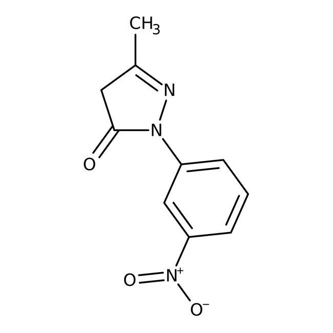 Alfa Aesar™5-Methyl-2-(3-nitrophenyl)-3-pyrazolinone, 98% 1g Alfa Aesar™5-Methyl-2-(3-nitrophenyl)-3-pyrazolinone, 98%