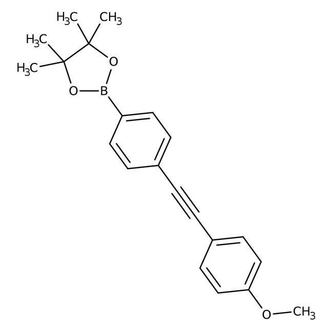 Alfa Aesar™4-(4-Methoxyphenylethynyl)benzeneboronic acid pinacol ester,95%