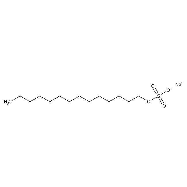Tetradecyl sodium sulfate, 95%, ACROS Organics™ 5g; Glass bottle Tetradecyl sodium sulfate, 95%, ACROS Organics™