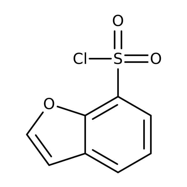 Benzo[b]furan-7-sulfonyl chloride, Maybridge Amber Glass Bottle; 1g Benzo[b]furan-7-sulfonyl chloride, Maybridge