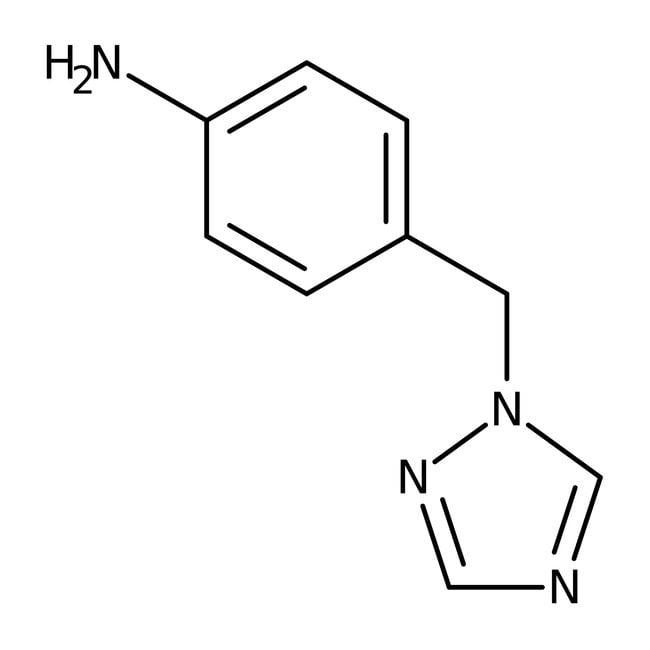Alfa Aesar™1-(4-Aminobenzyl)-1H-1,2,4-triazole, 98% 100g Alfa Aesar™1-(4-Aminobenzyl)-1H-1,2,4-triazole, 98%