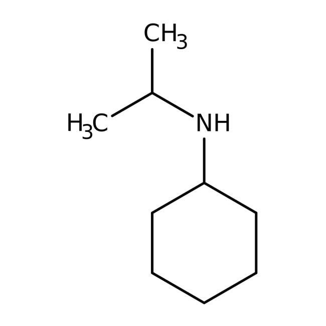 N-Isopropylcyclohexylamine, 99%, ACROS Organics™ 5g; Glass bottle N-Isopropylcyclohexylamine, 99%, ACROS Organics™