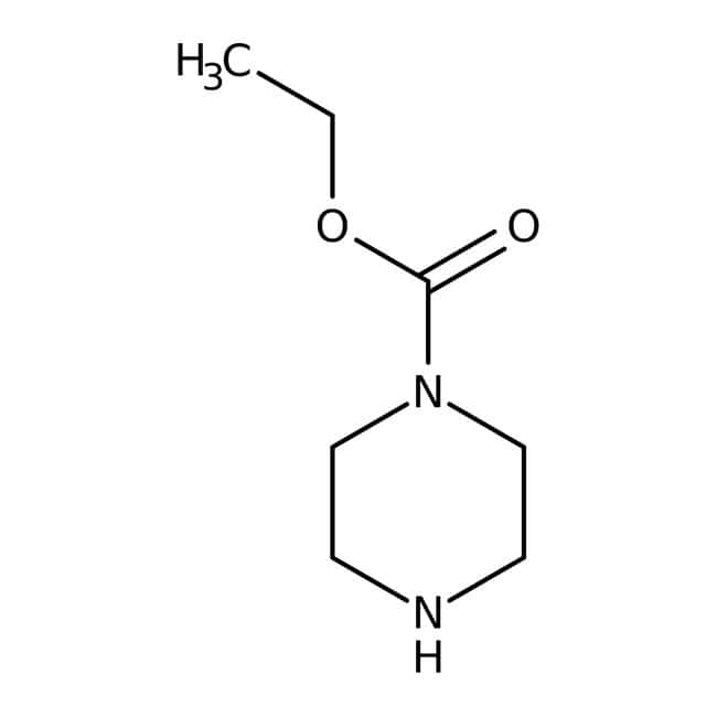 Ethyl N-piperazinecarboxylate, 99%, Acros Organics 25g; Glass bottle Ethyl N-piperazinecarboxylate, 99%, Acros Organics