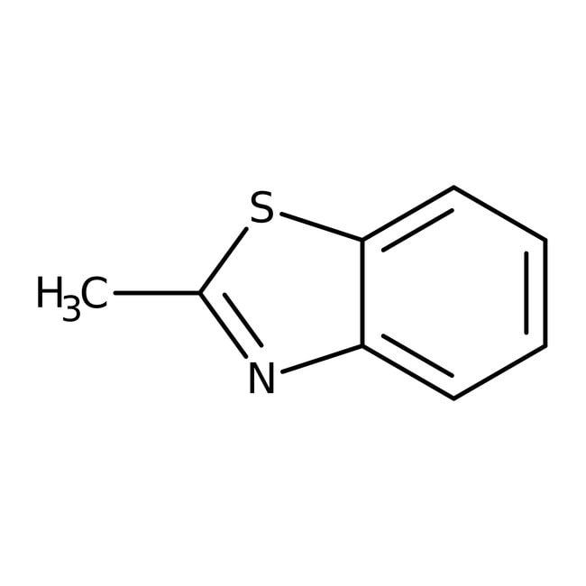 2-Methylbenzothiazole, 99%, ACROS Organics™ 100g 2-Methylbenzothiazole, 99%, ACROS Organics™