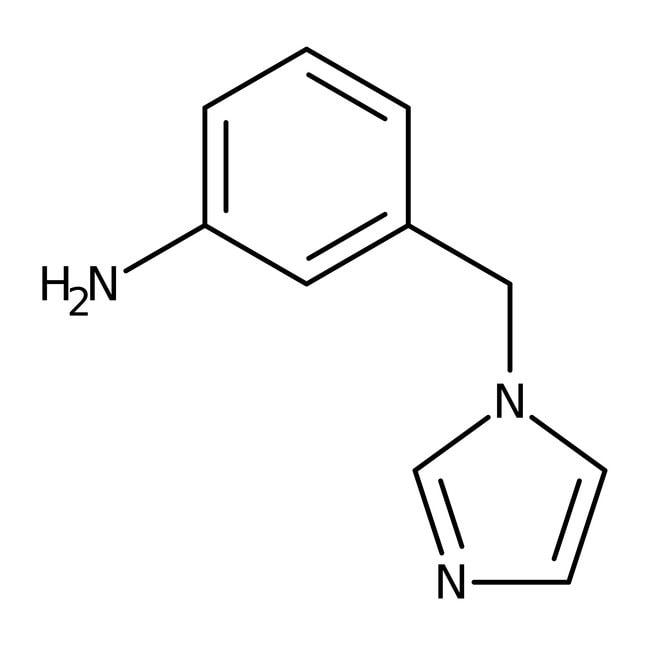 3-(1H-Imidazol-1-ylmethyl)aniline, 97%, Maybridge™ Amber Glass Bottle; 1g 3-(1H-Imidazol-1-ylmethyl)aniline, 97%, Maybridge™