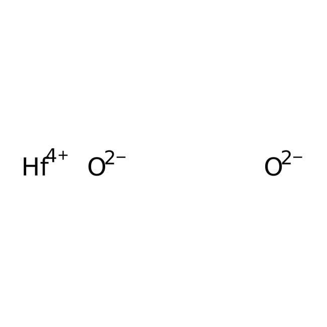 Alfa Aesar™Hafnium(IV) oxide, 99.995%, (metals basis excluding Zr), Zr typically <0.2% 5g Alfa Aesar™Hafnium(IV) oxide, 99.995%, (metals basis excluding Zr), Zr typically <0.2%