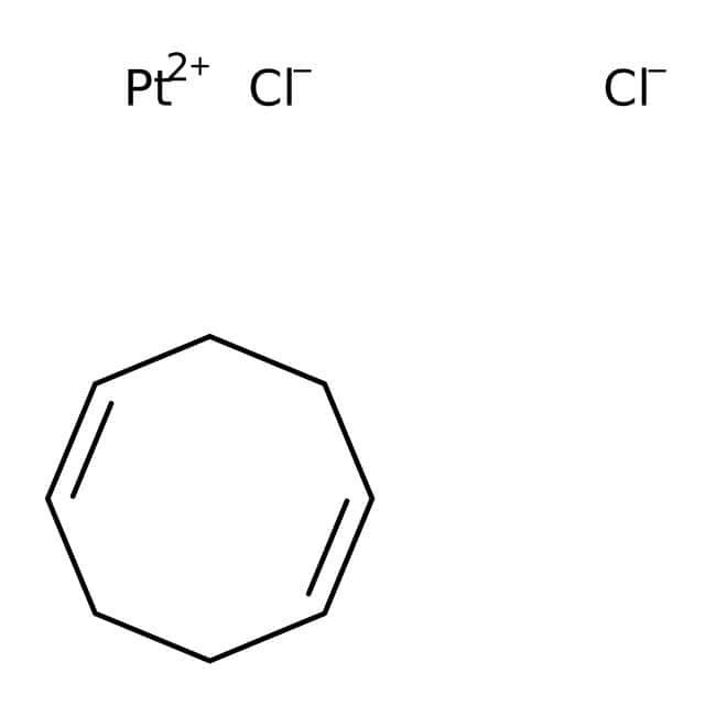 Dichloro(1,5-cyclooctadiene)platinum(II), 98%, ACROS Organics™ 1g; Glass bottle Dichloro(1,5-cyclooctadiene)platinum(II), 98%, ACROS Organics™